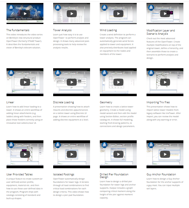 OpenTower Video Gallery